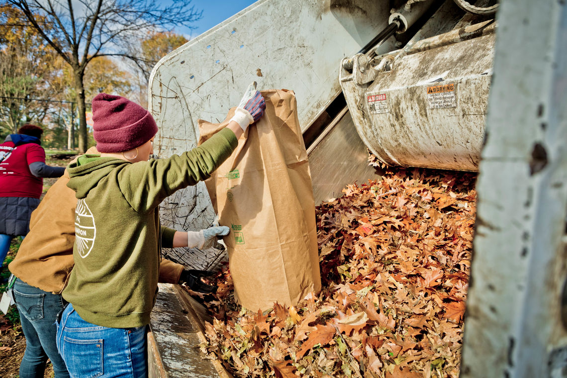 Love Your Park Fall-Cobbs-Creek-Leaves-Compost