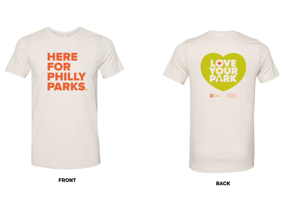 here for philly parks tee